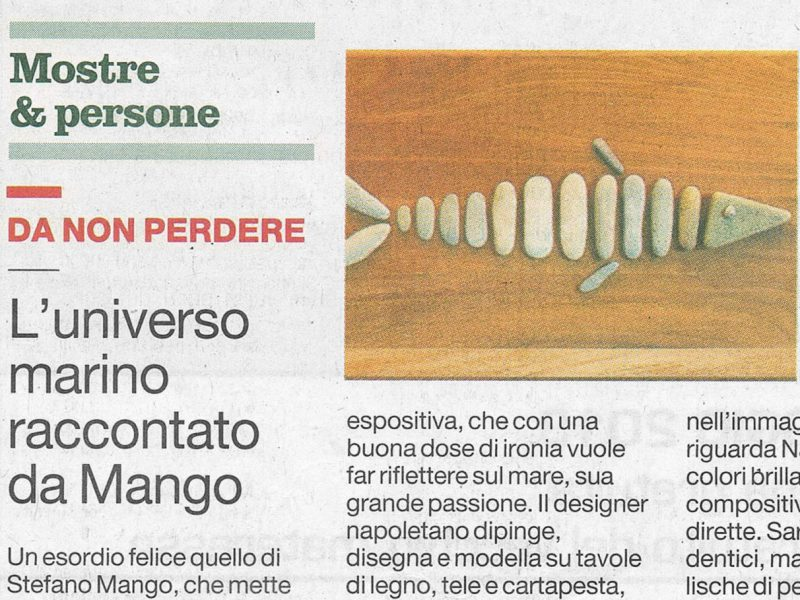 L'universo marino raccontato da Mango