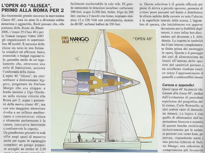 """L'Open40 """"Alisea"""" primo alla Roma per 2"""